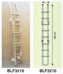 FOLDING EXTERNAL ALUMINIUM REAR ROOF ACCESS LADDER 9 RUNG